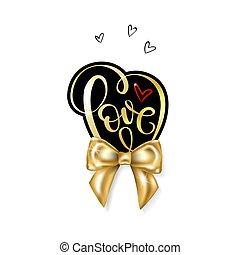 amor, palabra, oro, manuscrito, letras