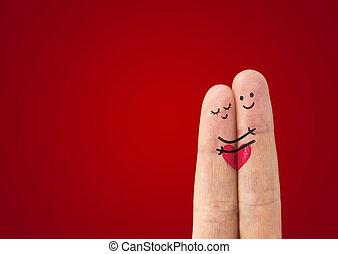 amor, ?, par, feliz