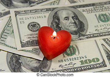amor, para, dinheiro