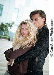 amor, -, pareja joven, juntos