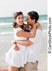 amor, pareja, playa