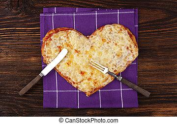amor, pizza.