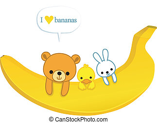 amor, plátanos