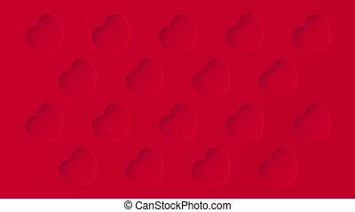 amor, plano de fondo, patrón del corazón, rojo