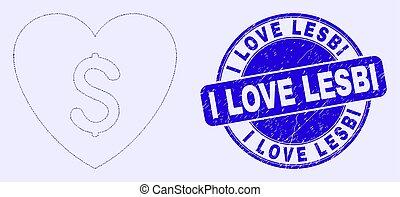 amor, preço, selo, azul, lesbi, angústia, mosaico