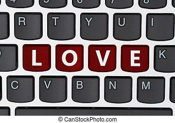 amor, procurar, online