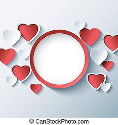 Amor, Quadro,  valentines, fundo, corações, Dia,  3D