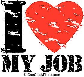 amor, selo, ilustração, borracha, trabalho, vetorial, grunge, meu