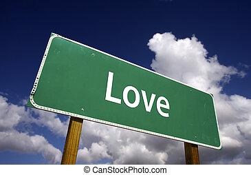 amor, sinal estrada