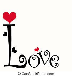 amor, texto