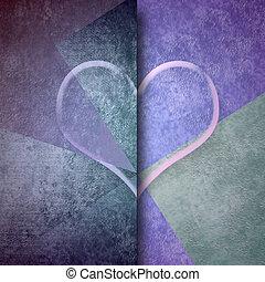 amor, transparente, tarjeta, corazón