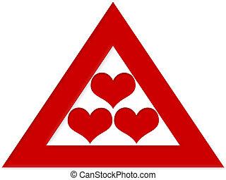 amor, triángulo