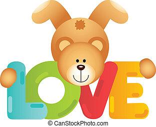 amor, urso, pelúcia