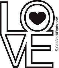 amor, valentines, fuente, tipo, día, feliz