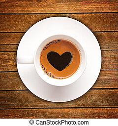amor, xícara café