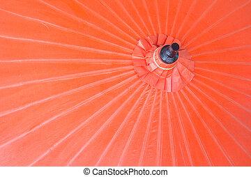 amora, guarda-chuva, vermelho
