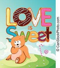 amore, è, dolce