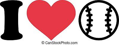 amore, baseball, pictogram
