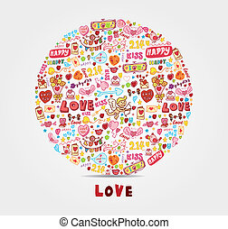 amore, cartone animato, scheda