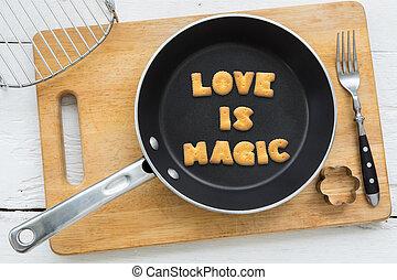 amore, citazione, biscotto, frittura, magia, biscotti, pan