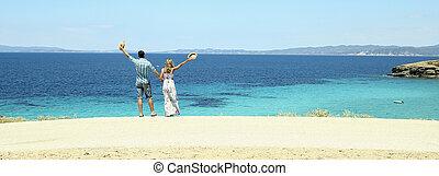 amore, coppia, spiaggia