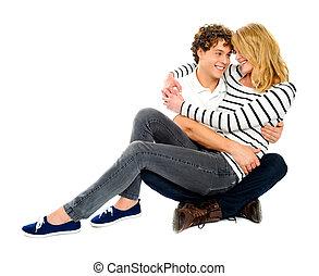Amore,  deeply, coppia, dall'aspetto, ciascuno, altro