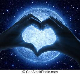 amore, e, luna