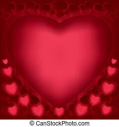 amore, fondo, con, cuori, per, giorno valentines