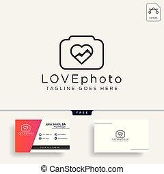 amore, fotografia, isolato, illustrazione, elemento, vettore, sagoma, logotipo, icona