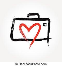 amore, fotografia, logotipo