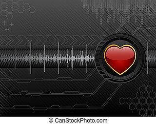 amore, futuristico, fondo
