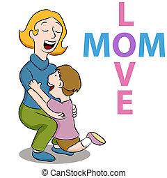 amore, mamma, figlio