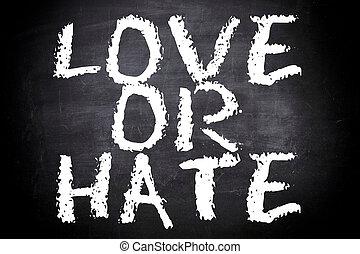 amore, odio, o