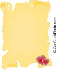 amore, pergamena