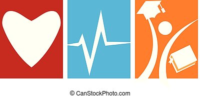 amore, salute, studente, cura