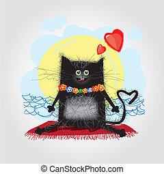 amore, scheda, gatto
