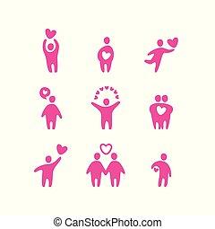 amore, valentina, icone