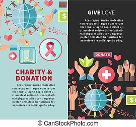 amore, verticale, dare, promozionale, donazione, manifesti,...