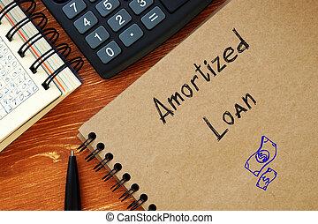 Amortized Loan phrase on the sheet.