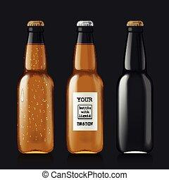 amostra, garrafas cerveja, vazio