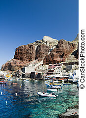 amoudi, 島, oia, 湾, ギリシャ語, santorini