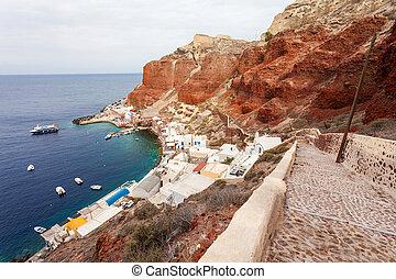 Amoudi Bay port, Santorini