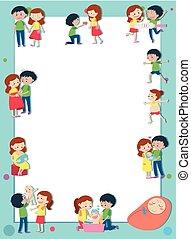 amour, être, couple, parents, gabarit, frontière