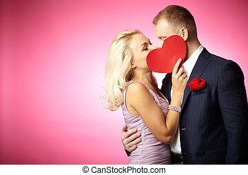 amour, baiser