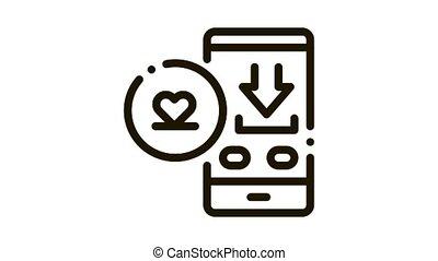 amour, bavarder, icône, téléchargement, animation