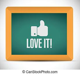 amour, blackboard., il, illustration, signe, conception