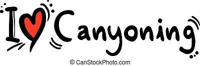 amour, canyoning