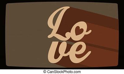 amour, carte, animation, vidéo, conception