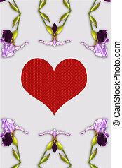 amour, carte, déclaration