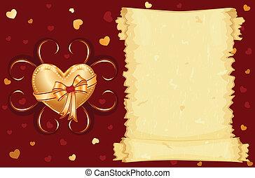 amour, carte, vous